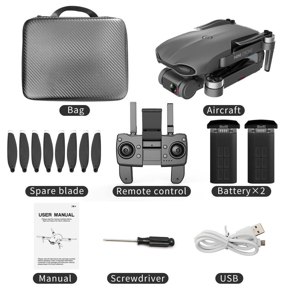 2020 NEW M9968 Drone 5G WIFI GPS 6K HD Mini Camera Profesional 1200 METERS Distance FPV Drone Protable Dron VS EX5 SG108 E520S Black 2 batteries