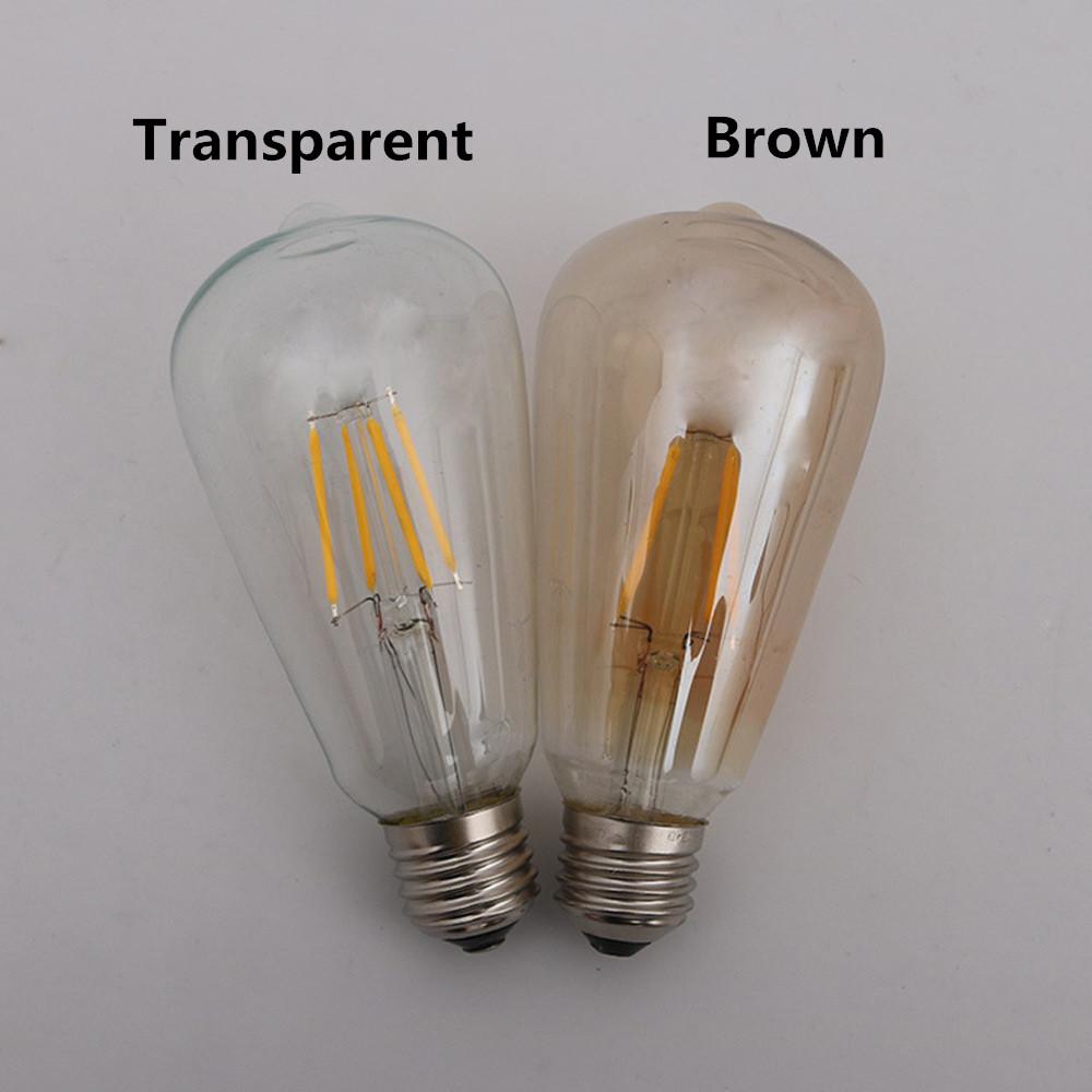 LED Retro Edison Light Bulb E27 220V  Tungsten Filament Lamp