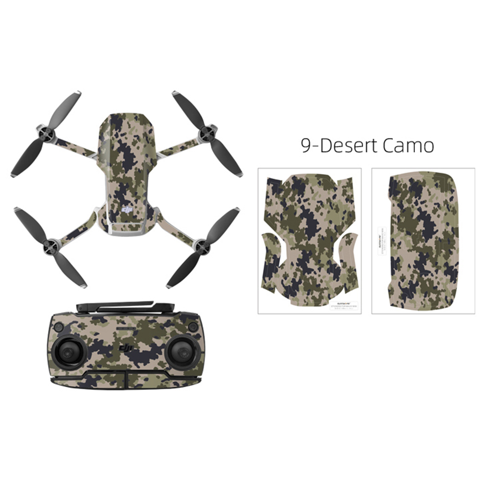 PVC Shell Decoration Sticker for DJI Mavic Mini Drone Body Arm and Controller Waterproof Anti-Scratch Full Protective Film camouflage