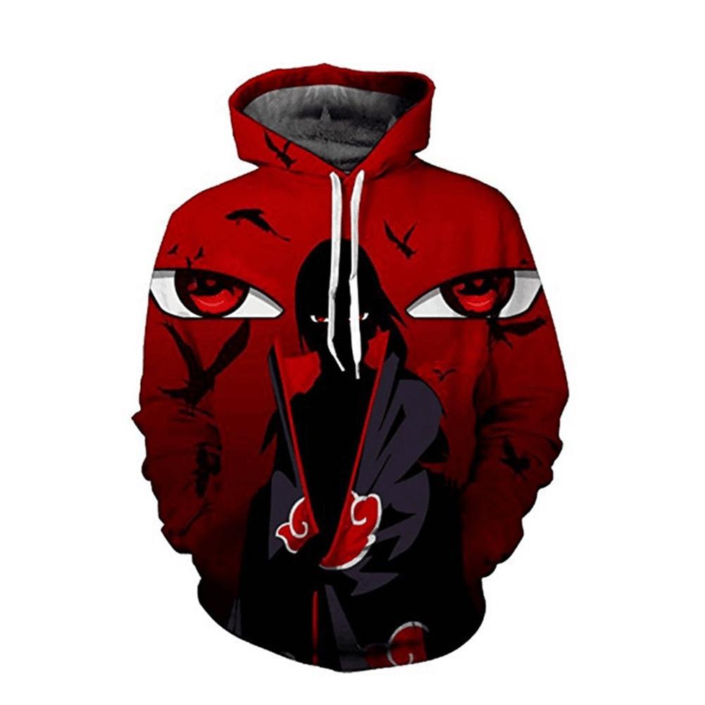Unisex Stylish Hoodie Cartoon 3D Print Sweater Sweatshirt Jacket Coat Pullover Graphic Tops red_XL