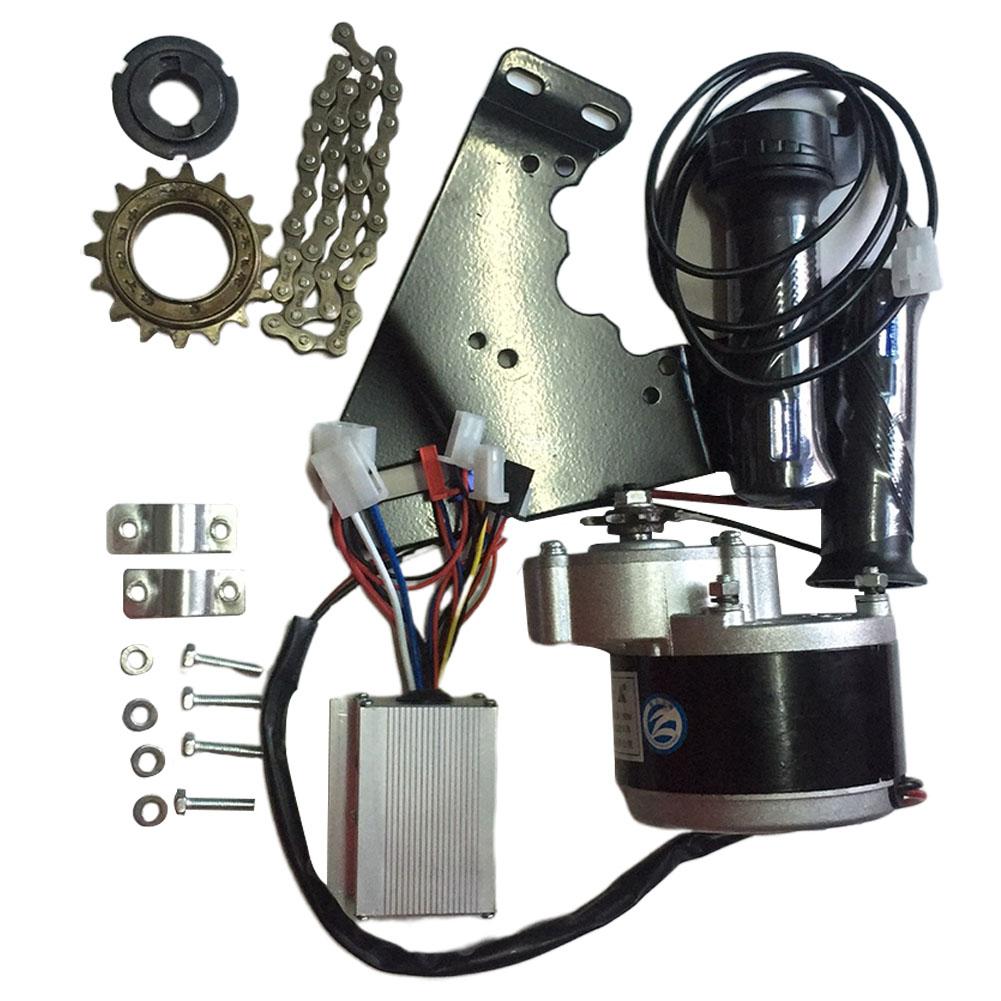 24V 250W Motor Controller Electric Bike Conversion Kit Flywheel Handle Motor Bracket Chain For 20-28 inch e-bike Bicycle kit 24V