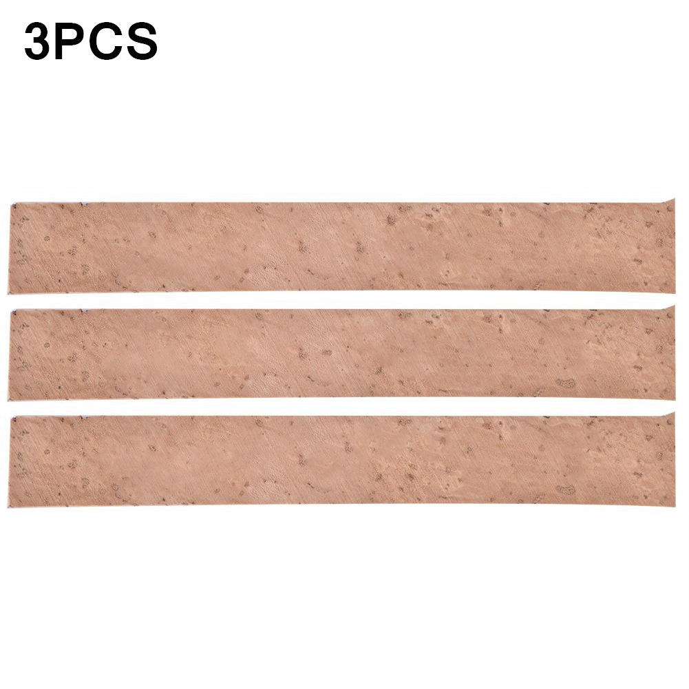 81x11x2mm Clarinet Cork Saxophones Neck Joint Sheets Musical Instruments Repair Accessories  Wood color_3PCS