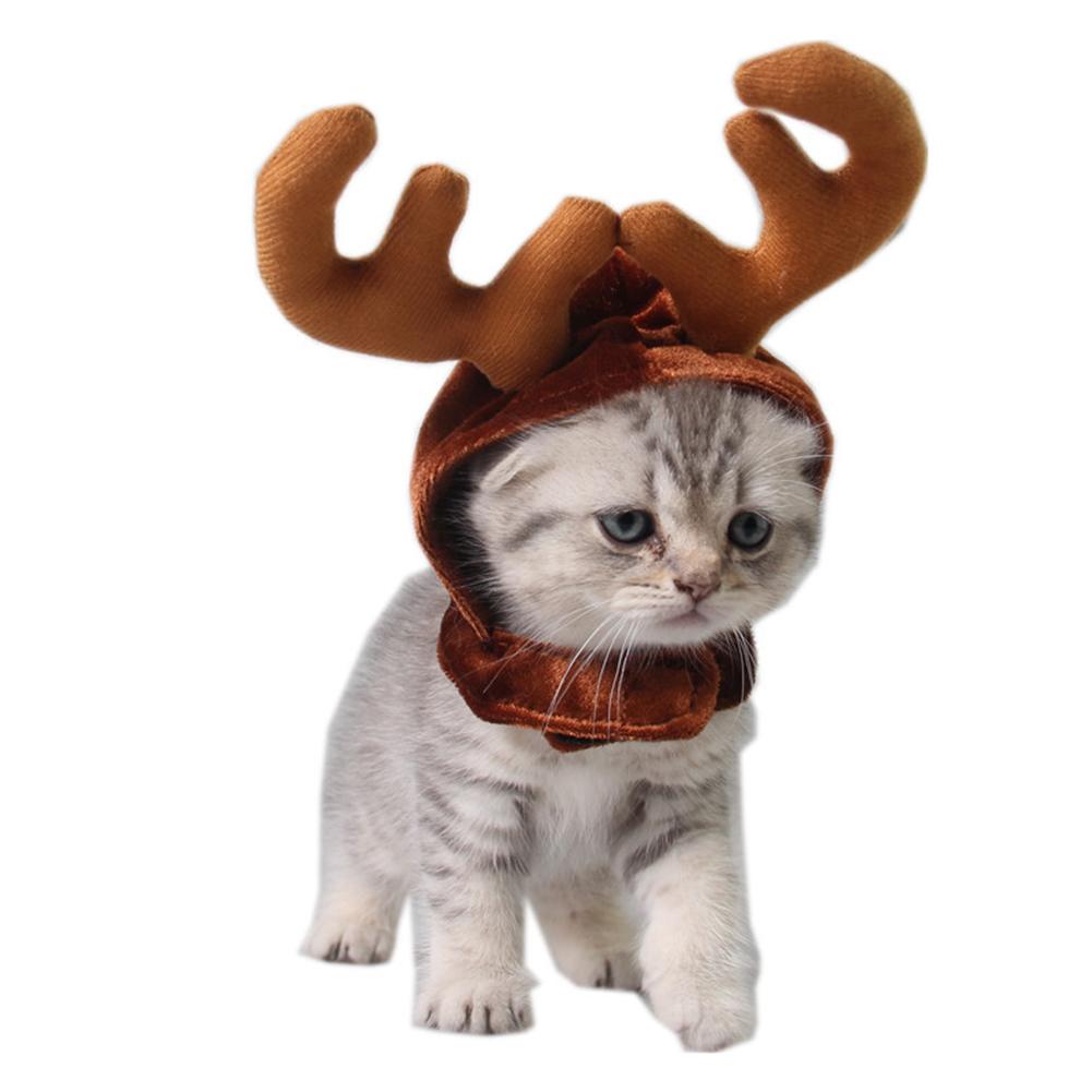 Pet Dog Headbands Antlers Cap Pet Costume Supplies Christmas Deer Hats  Antler cap_One size