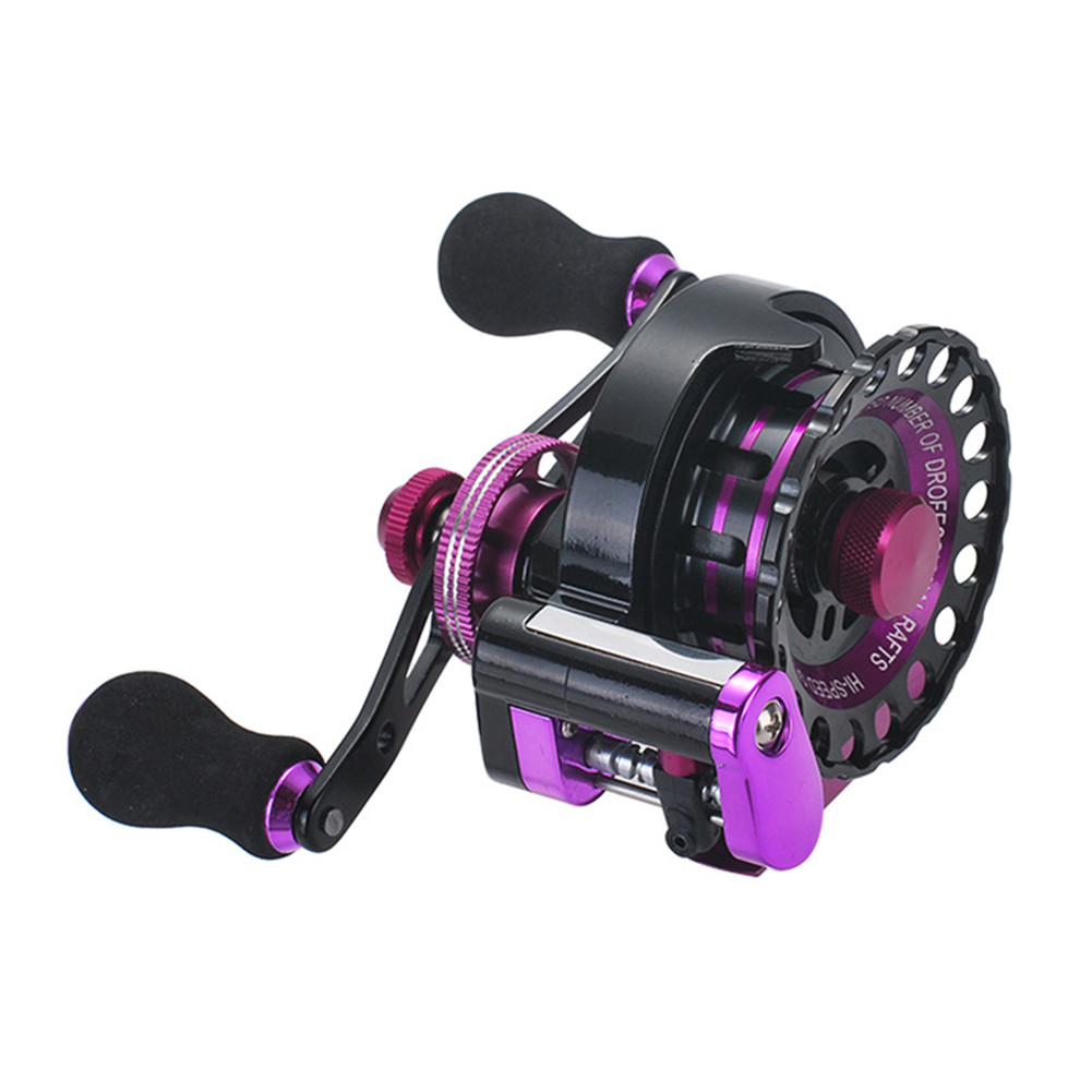 Fishing Reel 11-axis Cnc All-metal Head Smooth Micro Lead Fishing Reel Fishing Accessories b65 purple left hand