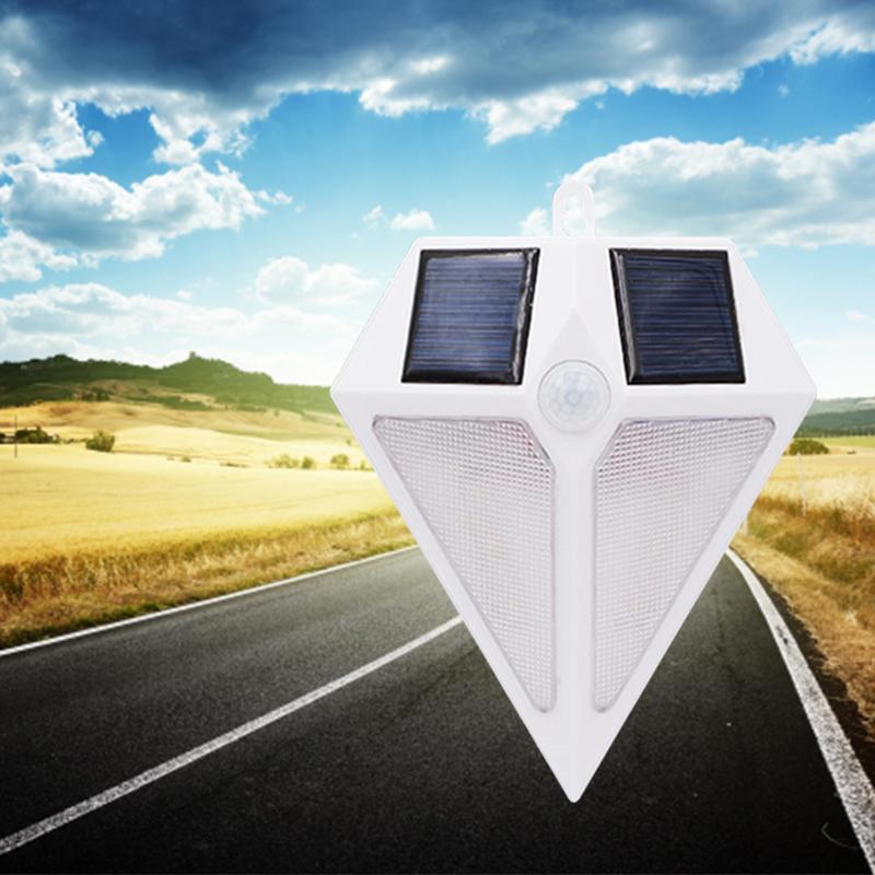 6 LED Solar Energy Outdoor Light Infrared Induction Garden Wall Lamp White Light