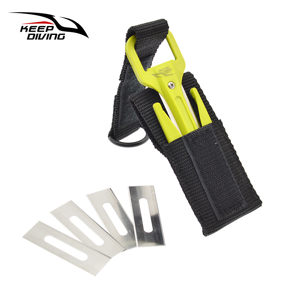 Portable Diving Cutting Tools Diving Snorkeling Safety Secant Cutter Hand Line Cutter Diving Equipment green_One size