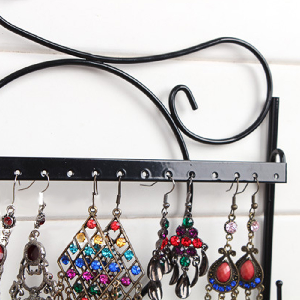 Heart-Shaped Earring Holder Oraganizer Metal Earrings Tree Jewelry Hanger Stand Display Rack for Necklaces Bracelets