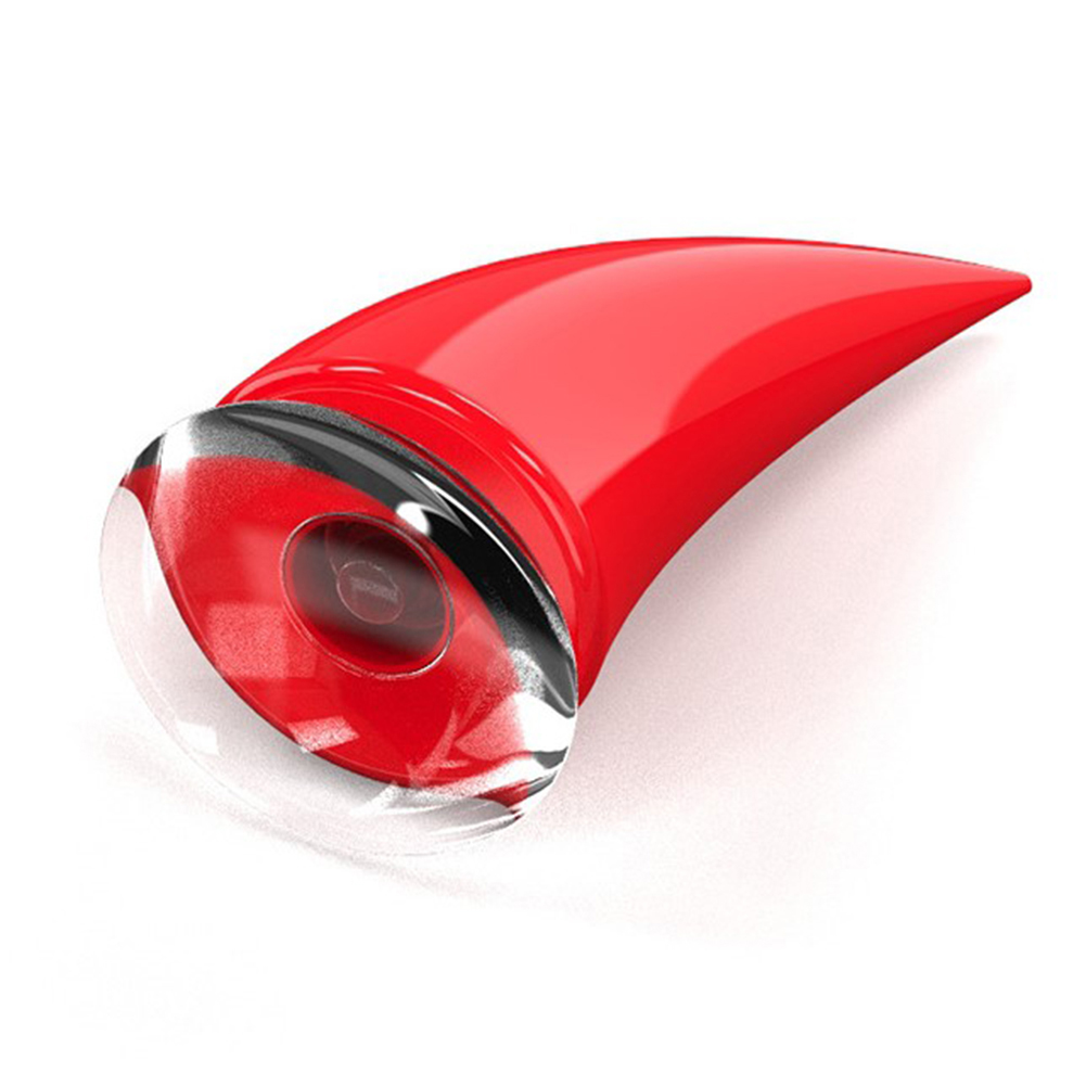 Universal Motorcycle Accessories Helmet Suction Cup Horn Plastic Rubber Decoration red