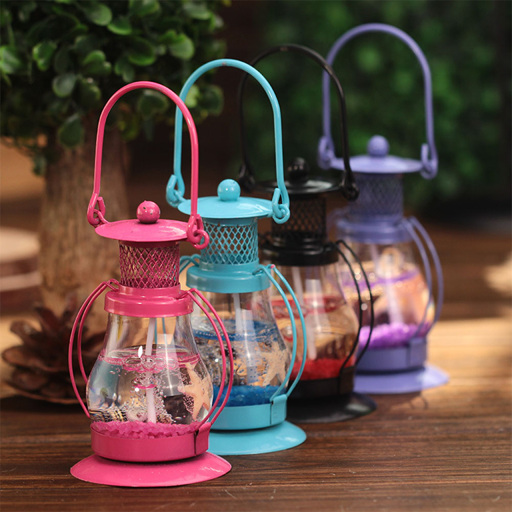Mini Ocean Style Gel Wax Candle Ornaments Small Magic Pendant Lamp Jelly Candle for Happy Birthday Wedding Party Decoration Gift 54x54x93mm