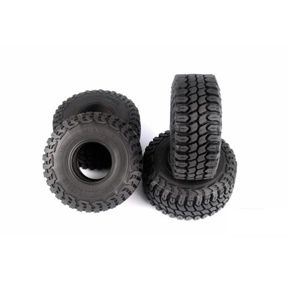 4Pcs 1.9 Inch 125mm 1/10 Rock Crawler Rubber Tires for D90 TRX-4 Defender TRX-6 G63 SCX10 II AXIAL 90046 TF2 4PCS
