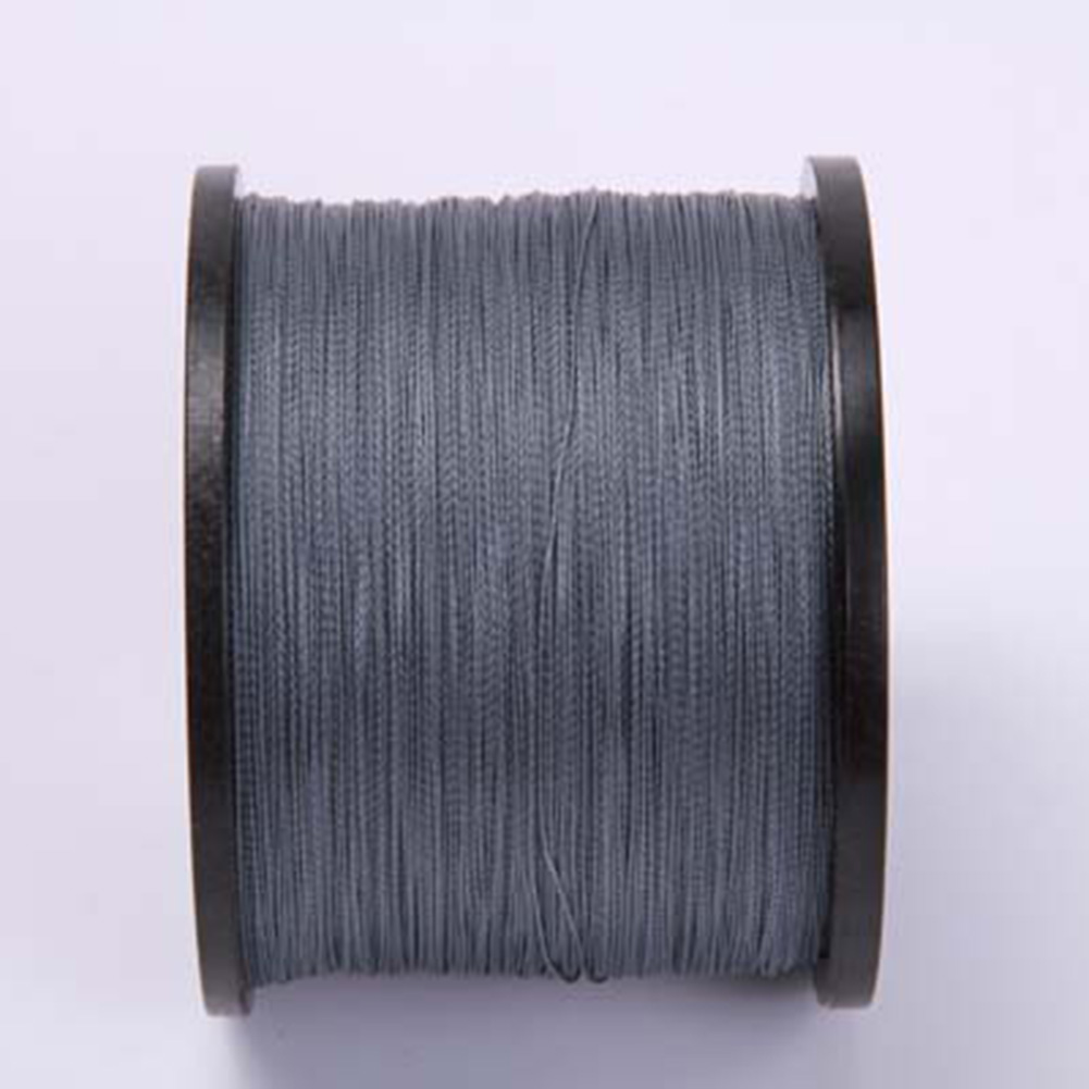 Imported Material 4 Series 300M 8 Series 300M Dyneema Fishing Line Braided Wire Bite Resistant String gray_4 series 300 meters 30LB
