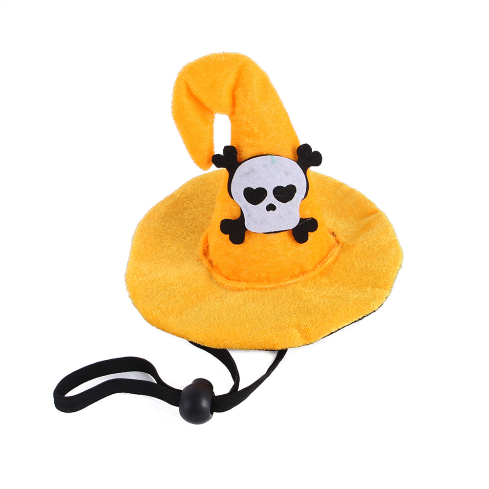 Funny  Pet  Headgear Cloth Creative Funny Pet Supplies Halloween Cats Hats Spider Bat Skull Headgear Skeleton_One size