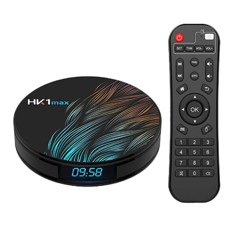 Smart TV Box HK1 Max Android 9.0 4GB 128GB 64GB 32GB Rockchip 4K Wifi Netflix Android TV Set top Box black_4GB + 64GB with i8 Keyboard