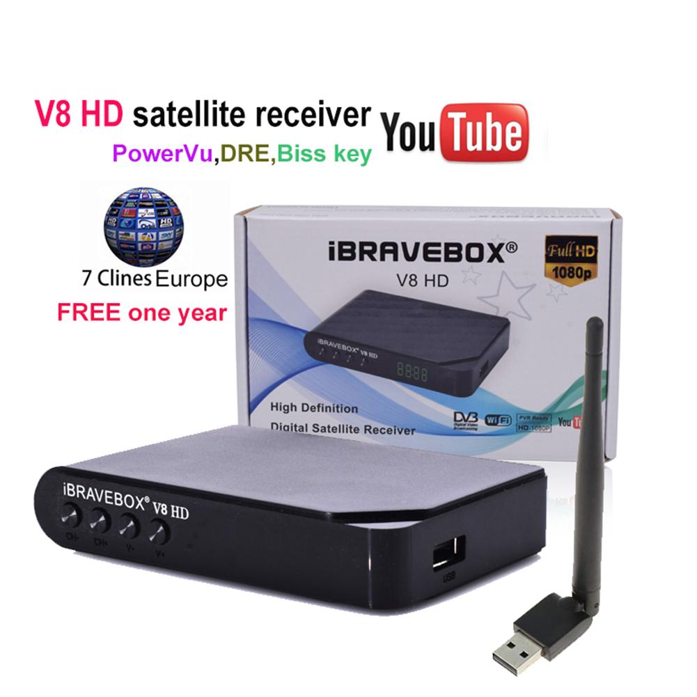 iBRAVEBOX V8 HD 1080P DVB-S2 Digital Free Satellite Web TV Receiver PVR USB WIFI US plug