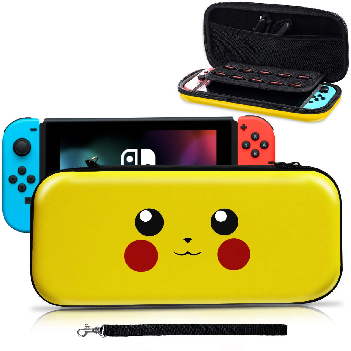 [Indonesia Direct] Cute Cartoon Travel Case Bag Carrying Case for Nintend Switch Pikachu