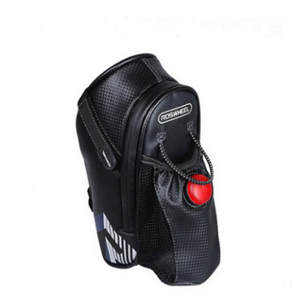 [Indonesia Direct] Rear Seat Bicycle Cycling Waterproof Saddle Bag Carrier Portable Seat Pouch Package dark blue_.size