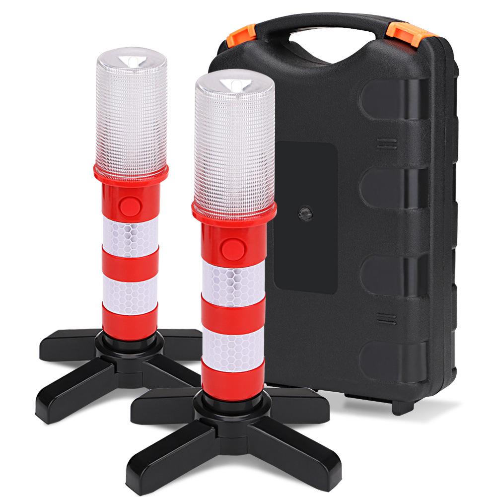 2pcs Led Twinkle Star Emergency Car Roadside Flares Light Kit Safety Strobe Warning Light Alert Flare Red