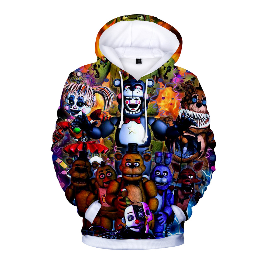 Fashion Five Nights at Freddy Digital Printing 3D Long Sleeve Hoodies A style_XXXL