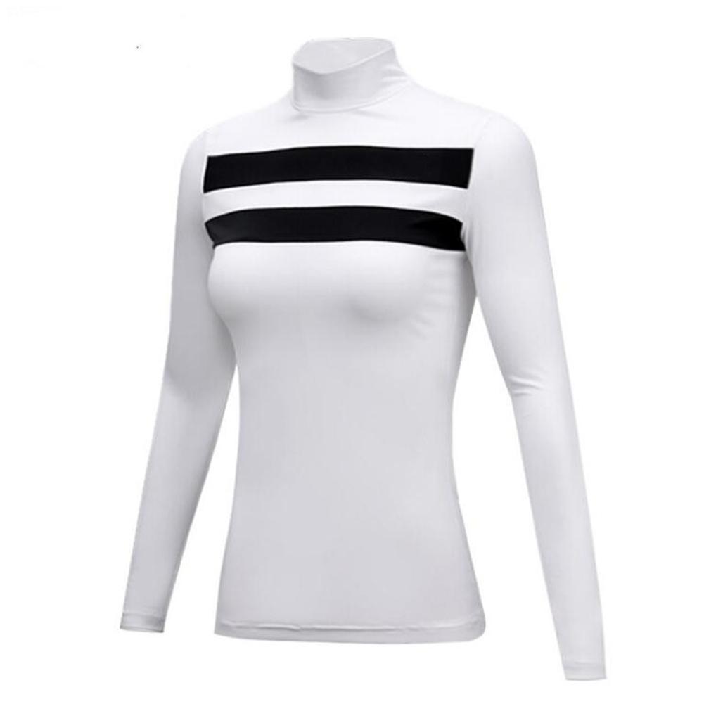 Golf Sun Block Base Shirt Milk Fiber Long Sleeve Autumn Winter Clothes YF144 white [thick version]_M