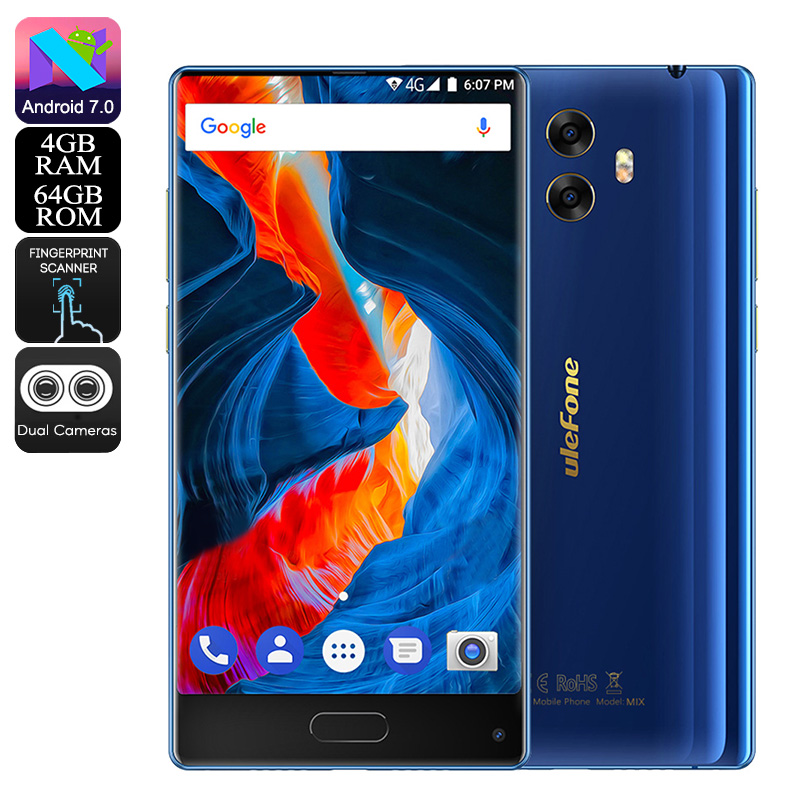 Ulefone MIX Android Phone (Blue)