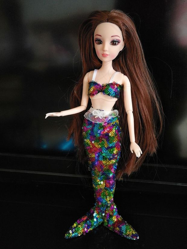 [EU Direct] Sequined Mermaid Clothing doll (Random Delivery)