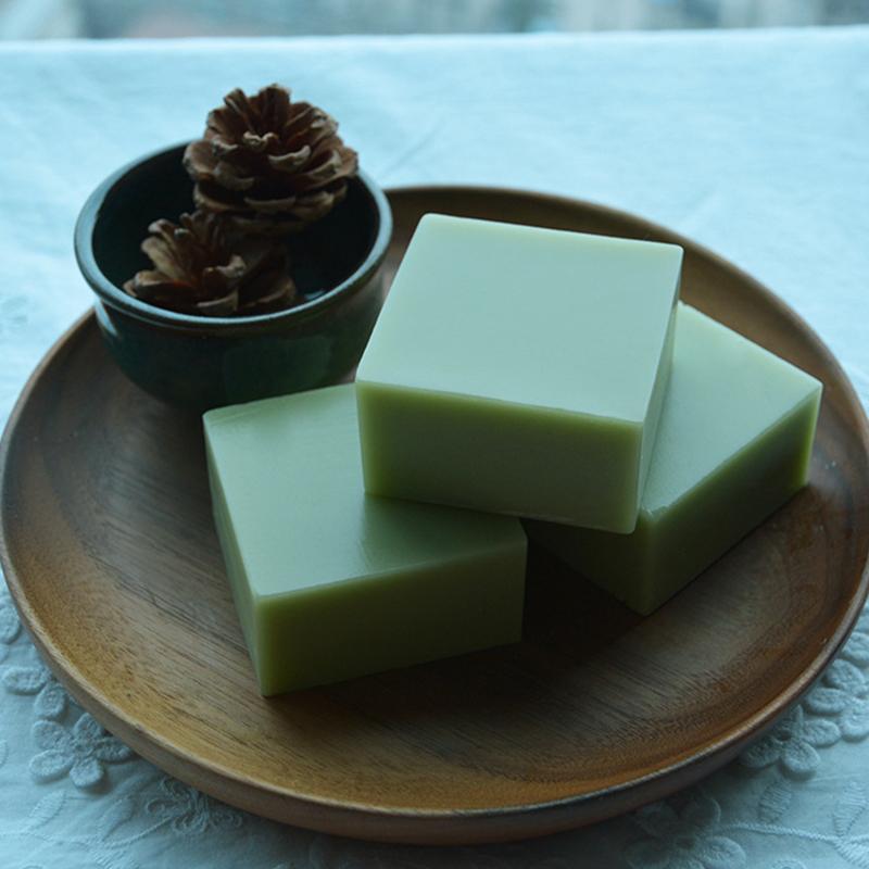 [EU Direct] Handmade Soap - Green Tea Essential Oils Soap - Oil Control, Whitening, Moisturizing - 100g