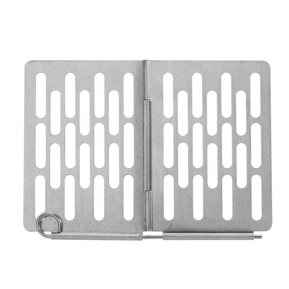 304 Stainless Steel BBQ Mat Folding Non-stick Barbecue Net Campfire Outdoor Cookware Heat Resisting BBQ Spare Toast Mesh Plate Folding barbecue board