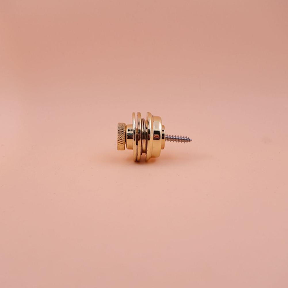 2Pcs/Set Non-slip Guitar Strap Lock Guitar Belts Buckle Button for Acoustic Electric Bass Guitar Strap Parts Accessories Gold