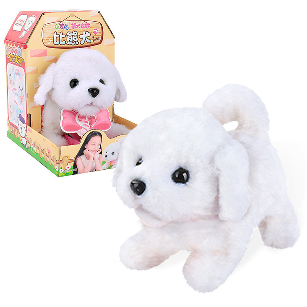 Dog Shape Electric  Plush  Toy Cute Simulation Puppy Plush  Toys Smart Robot  Dog Bichon