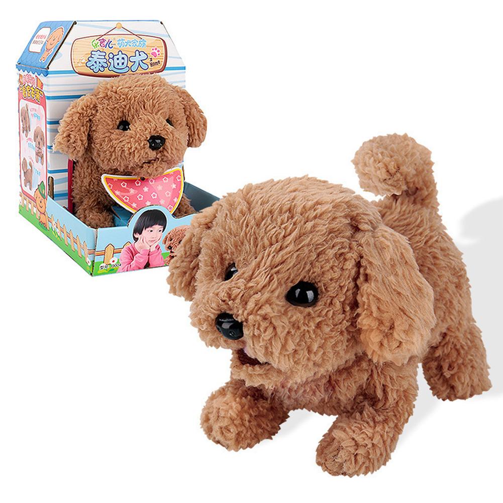 Dog Shape Electric  Plush  Toy Cute Simulation Puppy Plush  Toys Smart Robot  Dog Teddy