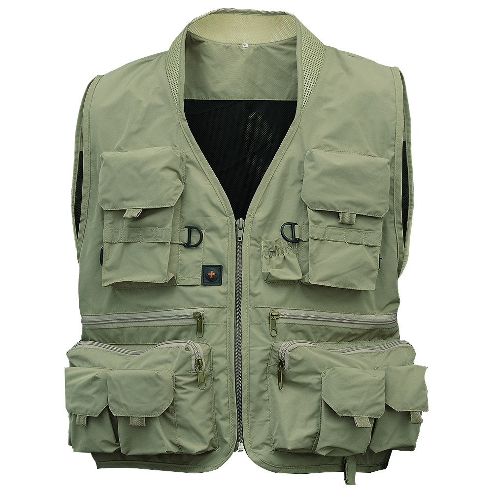 Outdoor Men's Fishing Vest Green XXL