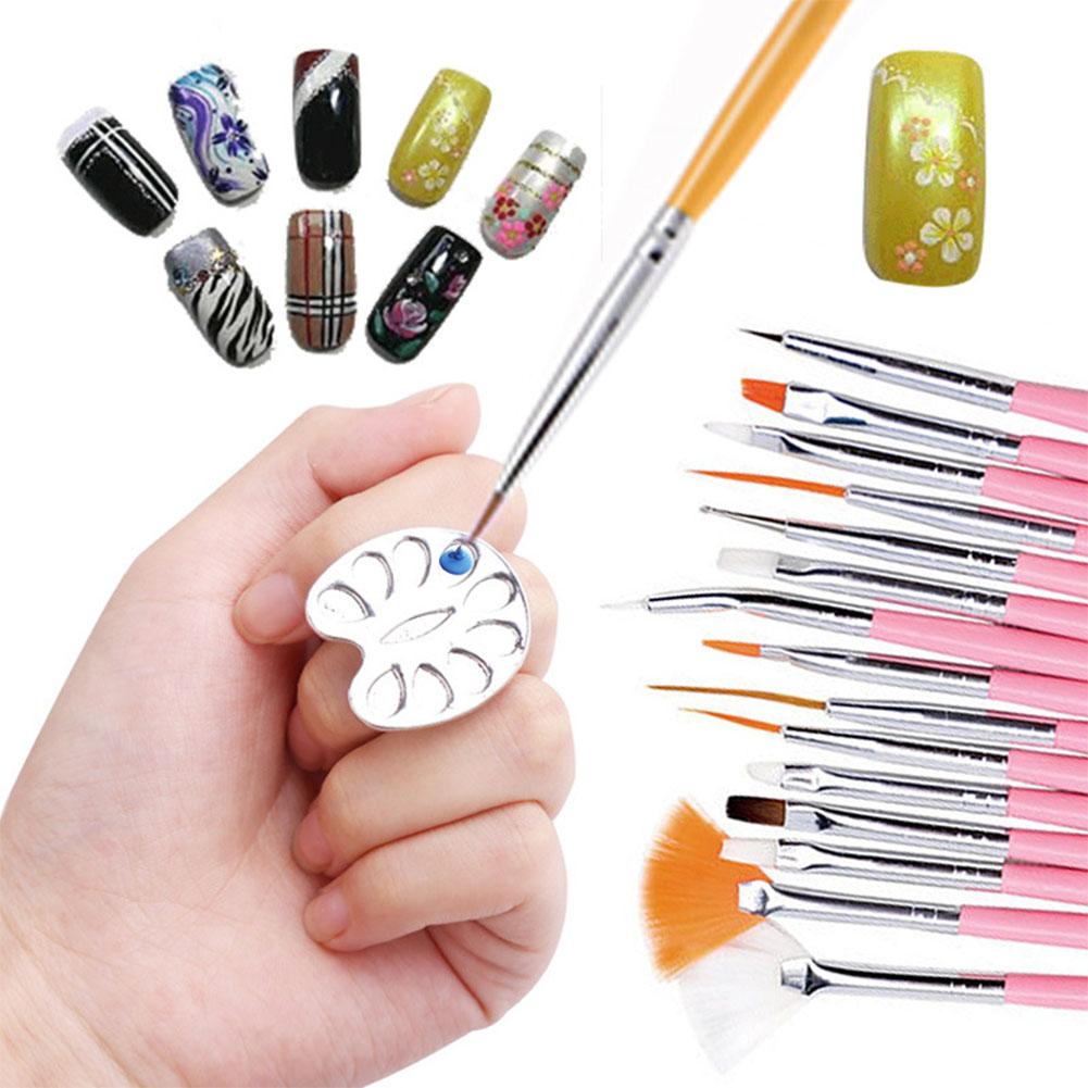 Stainless Steel Ring Color Display Palette Pallet False Nail Art Gel Polish Varnish Color Practice Board Manicure Tool