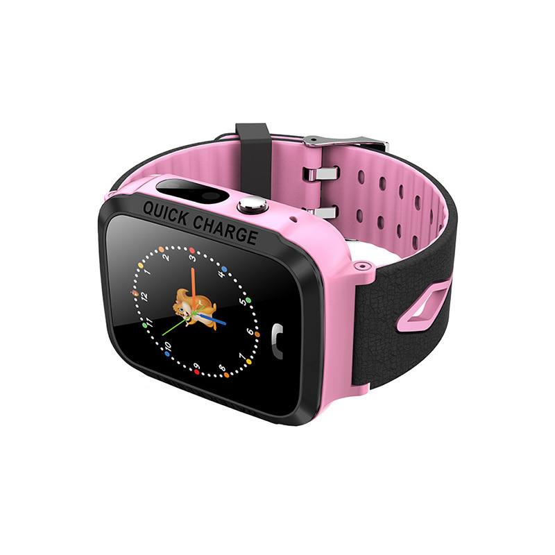 Kids Smart Watch Waterproof 1.44 Inch Screen Remote Control Photograph Positioning Intercom Watch Pink-without GPS