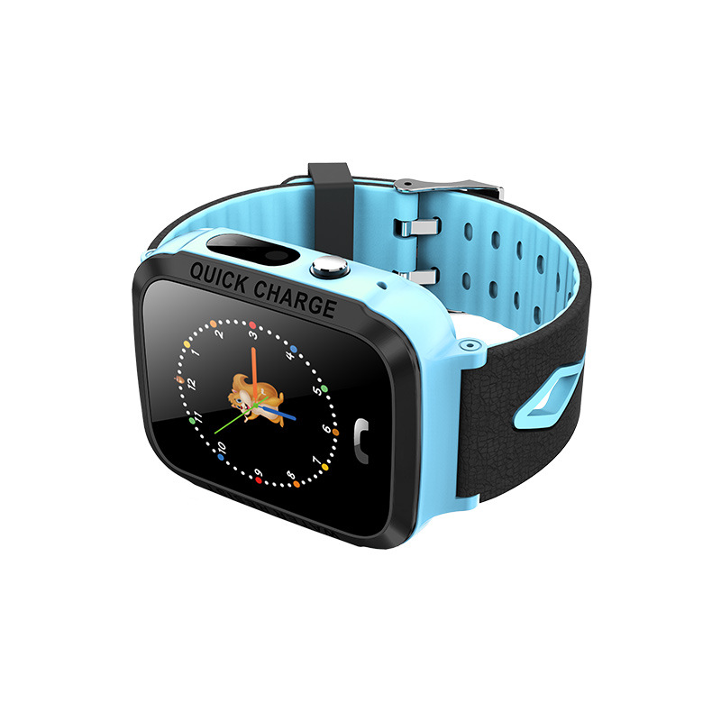 Kids Smart Watch Waterproof 1.44 Inch Screen Remote Control Photograph Positioning Intercom Watch Blue-without GPS