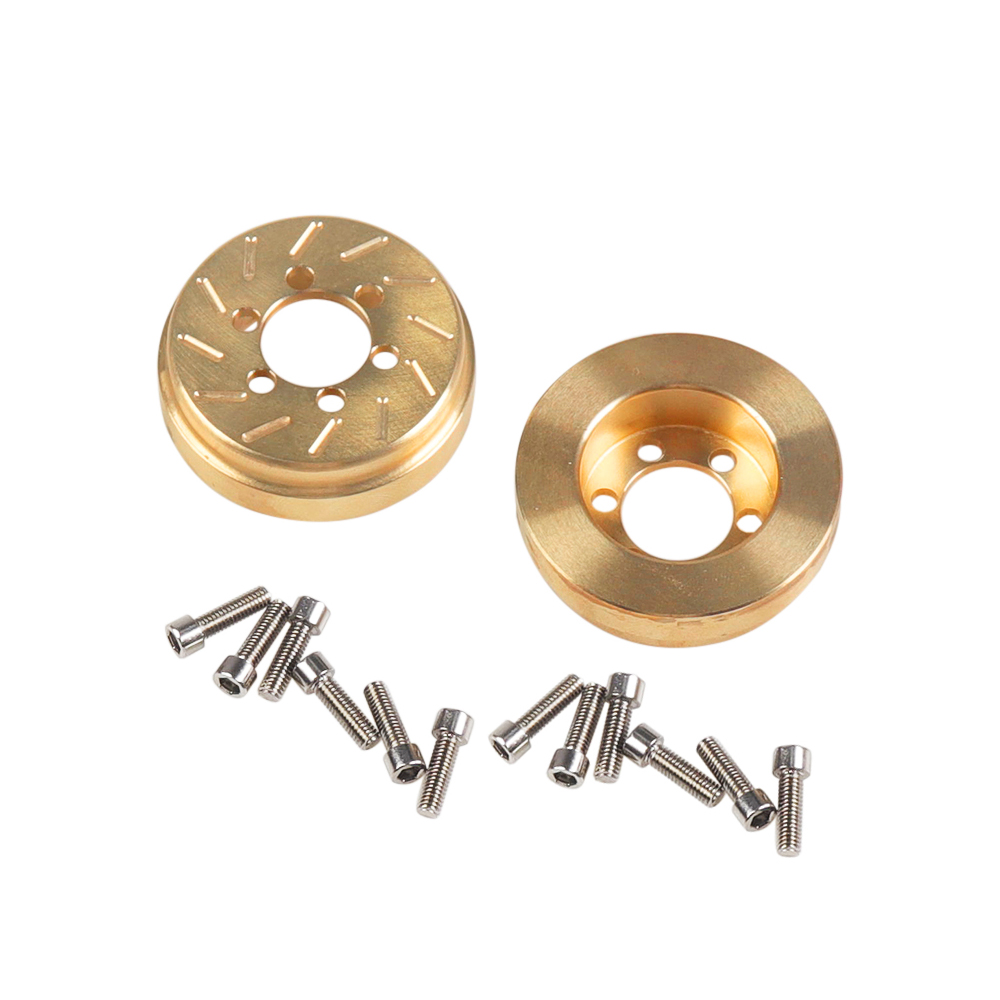 2PCS Brass 63g Internal Counterweight for 1.9 2.2 Inch Wheel Rims Axial SCX10 90046 D90 TF2 Traxxas TRX4 Gold