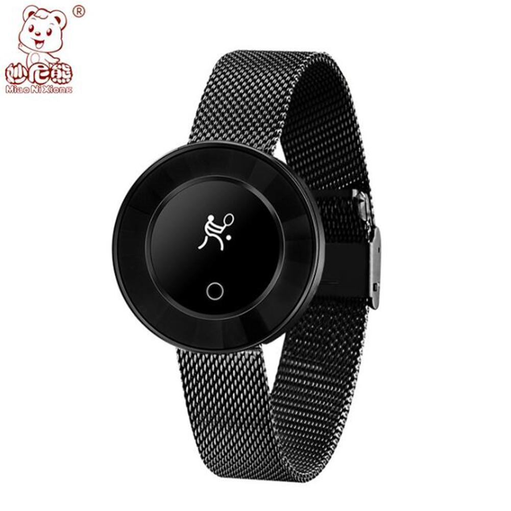 New X6 Smart Bracelet Watch Female Fashion Round Screen IP68 Waterproof Sports Step Health Monitoring black
