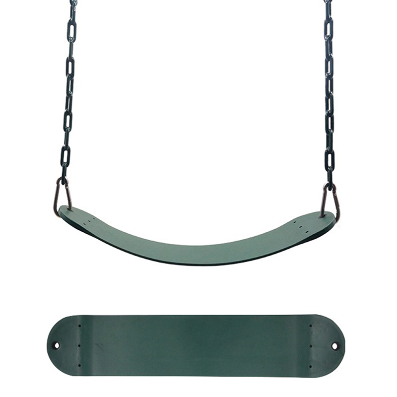 [US Direct] 25.59*5.51Inch Swing Seat for Kindergarten Kids, Heavy Duty 300KG/661LB Weight Limit Outdoor Playground Swing Accessories green