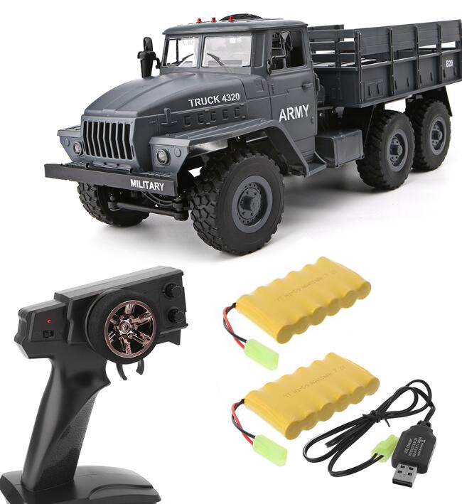 MZ YY2004 15KM/H 2.4G 6WD 1/12 Military Truck Off Road RC Car Crawler 6X6 Toys RC Models For Kids Birthday Gift Dual battery