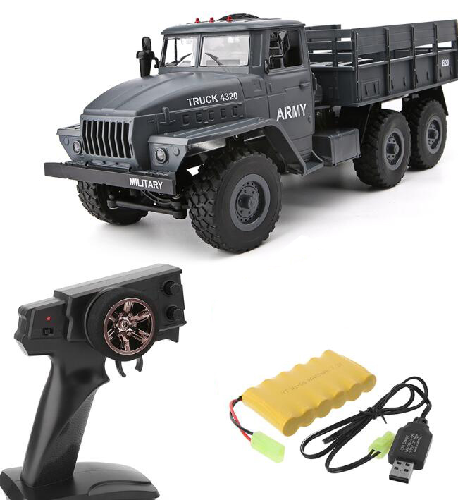 MZ YY2004 15KM/H 2.4G 6WD 1/12 Military Truck Off Road RC Car Crawler 6X6 Toys RC Models For Kids Birthday Gift Single battery