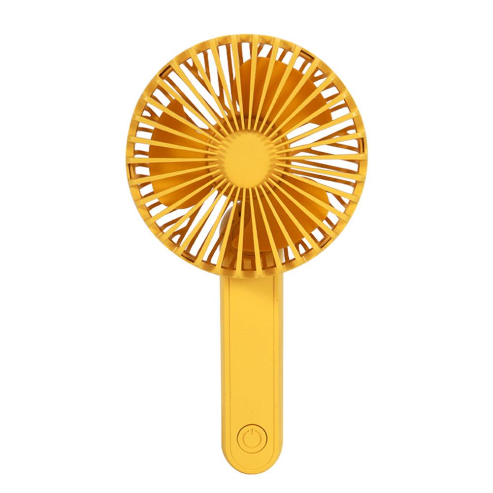 Portable Mini Fan Foldable Mute USB Power Rechargeable Hand Bar Fans yellow_8.3cm * 5cm * 16.5cm