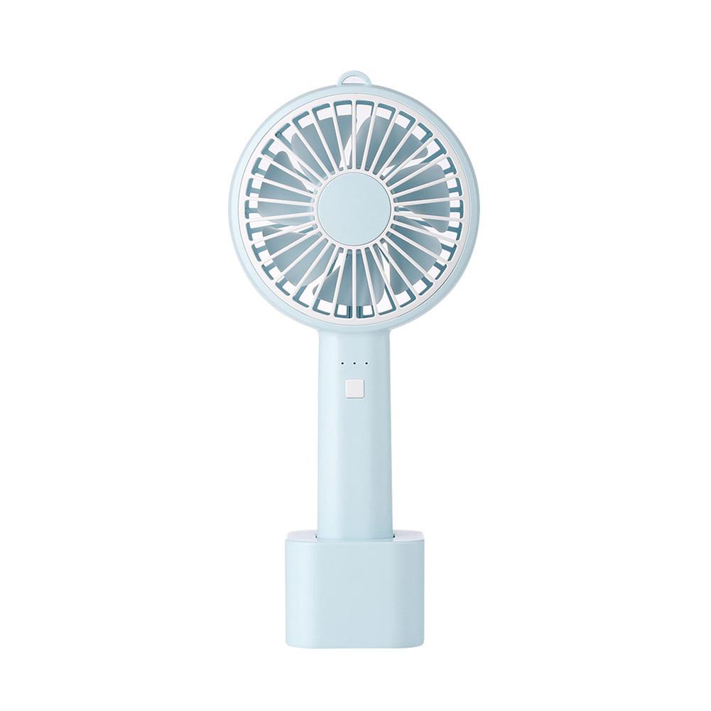 Usb Mini Mute Fans Electric Portable Handheld Household Desktop Electric Fan for Student Office blue