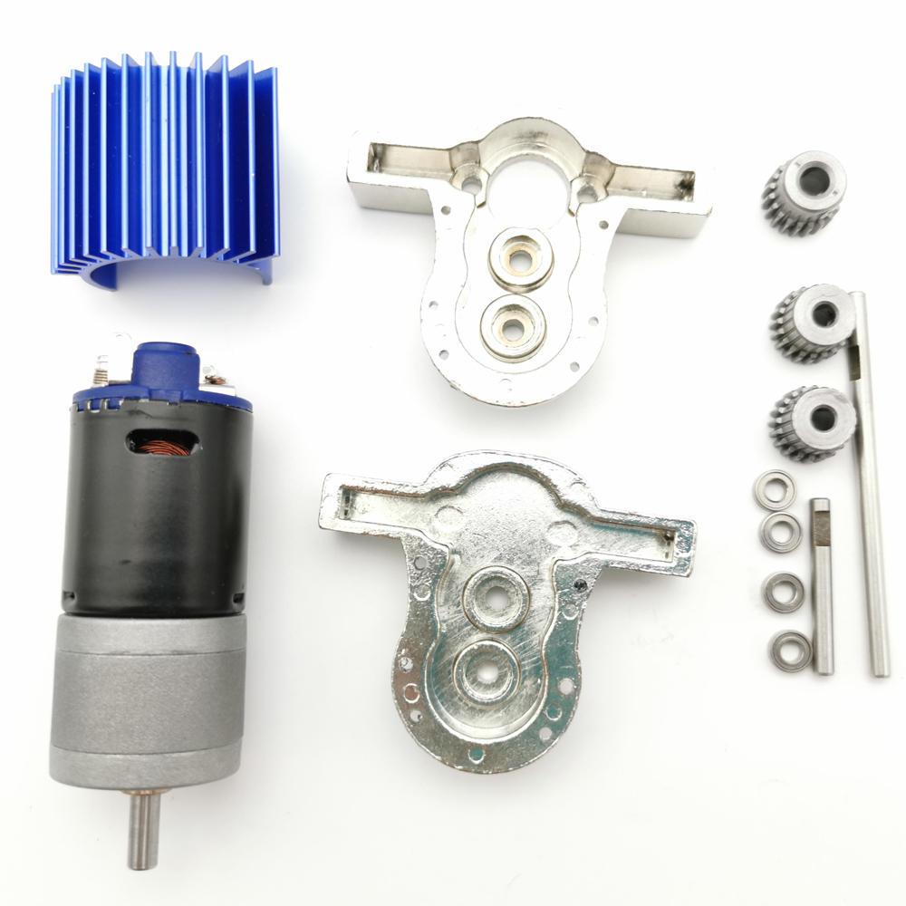 1 Set All Metal Transfer Gear Box Kit with 370 Motor WPL B16 B24 B36 C24 JJRC Q65 1/16 RC Parts default