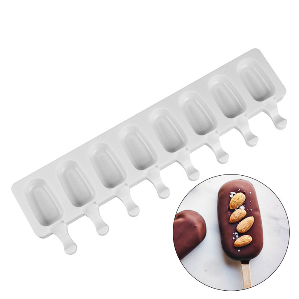 8 Holes Large Silicone Mold for DIY Ice Cream Popsicle  large