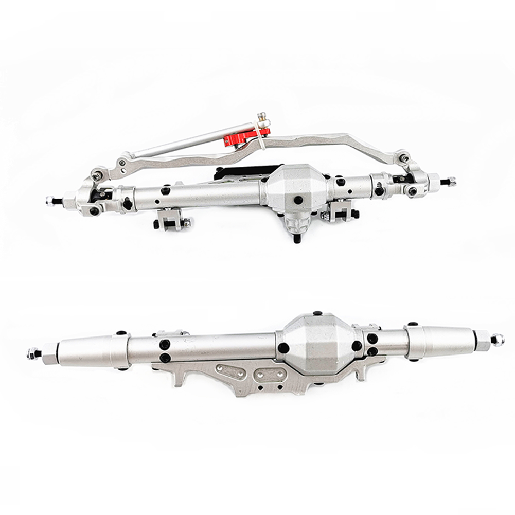 Metal RC Car Front/Rear Axle 1/10 RC Rock Crawler for Axial Wraith 90018 90020 90045 RR10 90048 90053 RC Parts Sturdy Accessories Silver