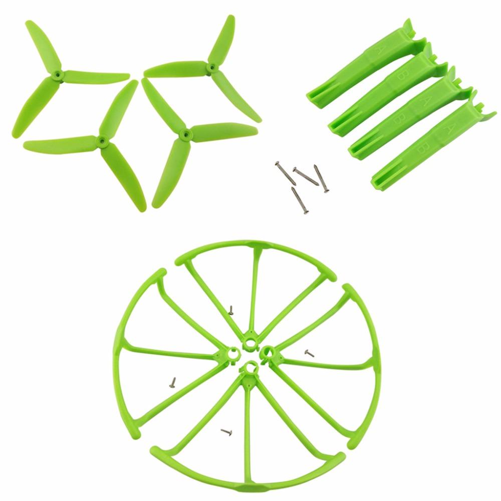 Aircraft Upgrade Parts Landing Gear + Propeller + Protective Cover for Hubsan X4 H502S H502E H502T H507A H216A green