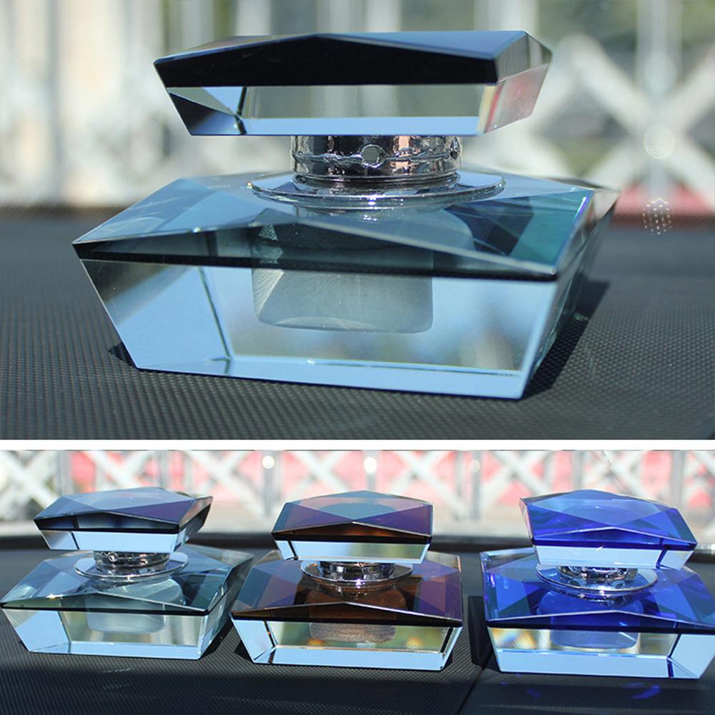 Crystal Car Perfume Bottle Car Perfume Seat Pedestal Auto Decoration Gifts Black