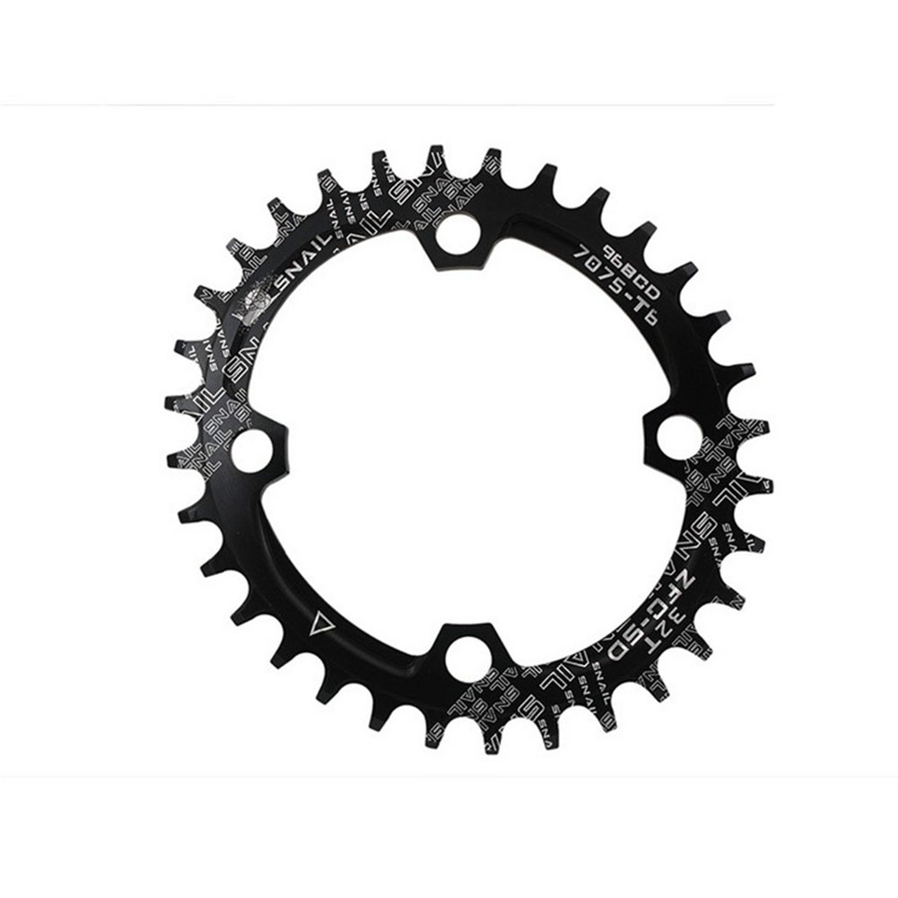 96BCD Positive and Negative Gear Plate Bike Single-speed Disc/Oval Modified Tooth Plate black_96bcd oval 32T
