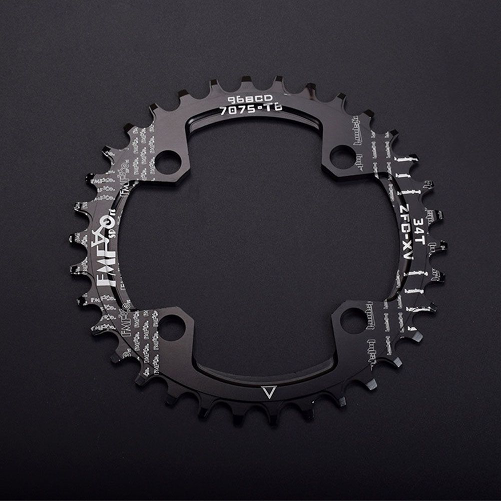 96BCD Positive and Negative Gear Plate Bike Single-speed Disc/Oval Modified Tooth Plate black_96bcd disc 34T
