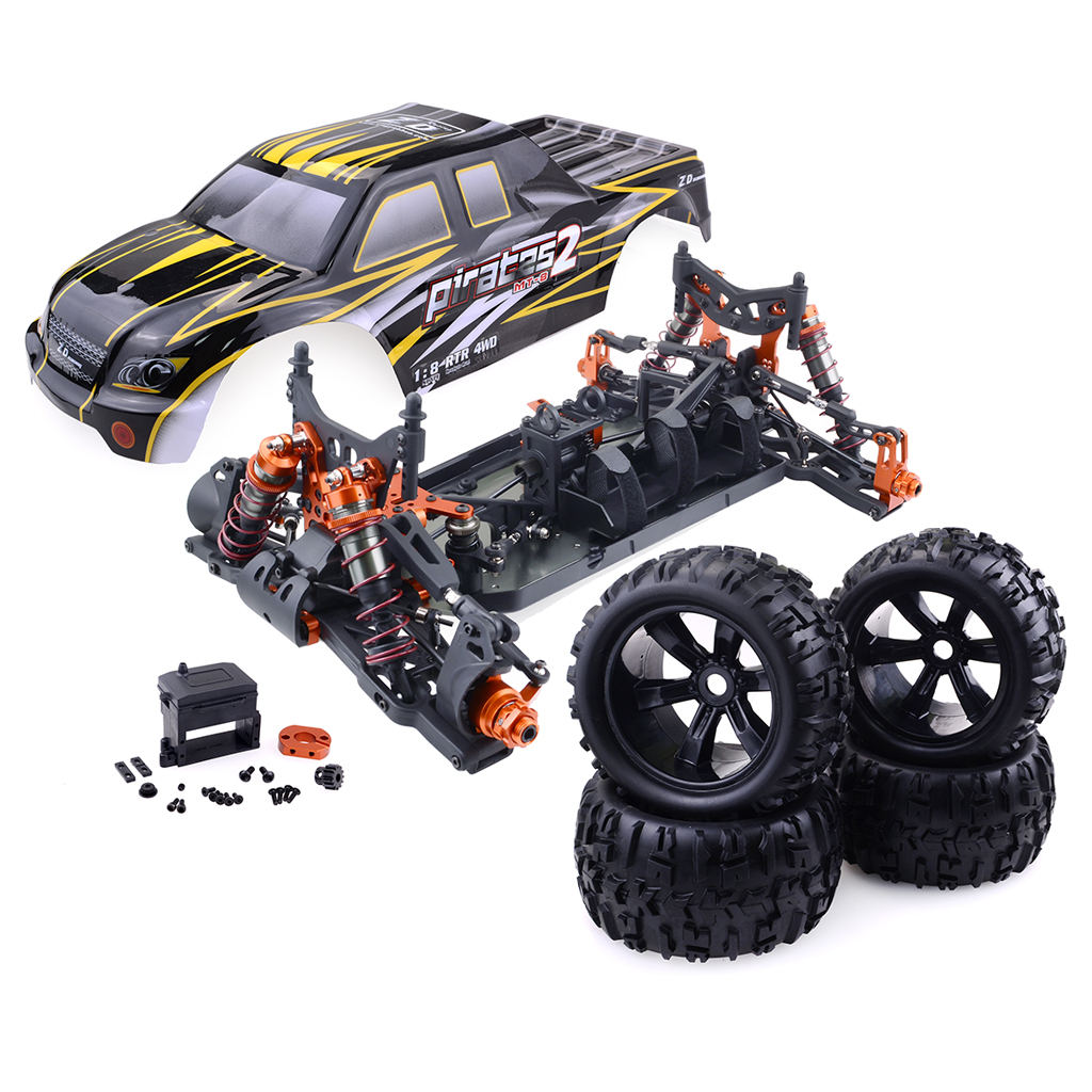 ZD Racing 9116 V3 1/8 4WD Brushless Electric Truck Metal Frame Brushless 100km/h RTR RC Car Without Battery Frame version (excluding electronic accessories)_1:8