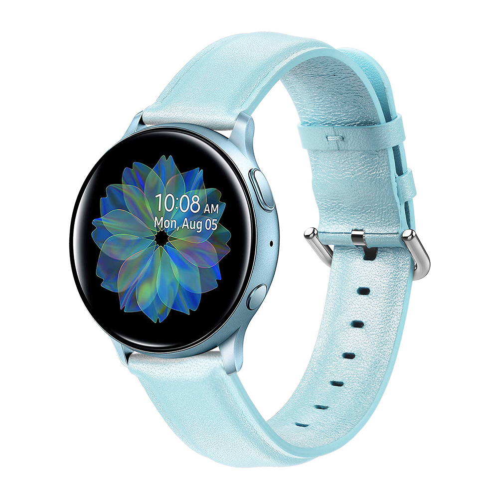 Leather Watch Strap for Sumsung Galaxy Watch Active/Active 2 Blue L code